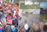 চাঁপাইনবাবগঞ্জে ধানবোঝাই ট্রলি উল্টে ১০ শ্রমিকের মৃত্যু